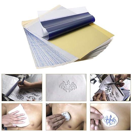 Papel de transferencia de tatuajes Yuelong, 100 hojas, papel ...
