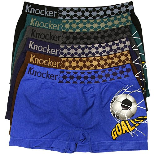 Knocker Soccer Seamless Underwear - 6 Pair, Size Large