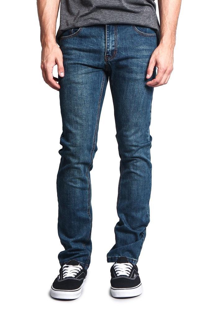 Victorious Men's Skinny Fit Stretch Raw Denim Jeans DL1004 - Desert Blue - 32/30 - DNM