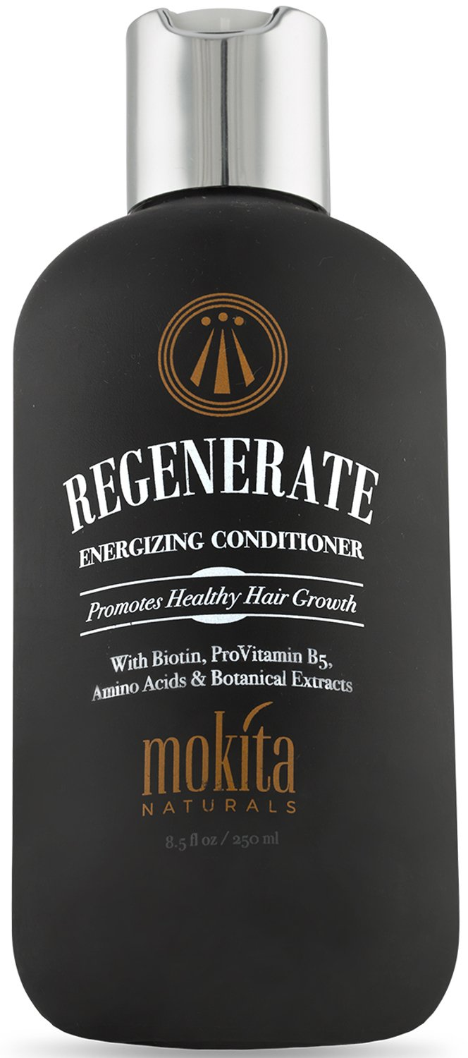 Mokita Naturals Conditioner With Biotin: ProVitamin B5, Amino Acids & Botanical Extracts For Repair Treatment & Deep Moisturizing For All Hair Types – Detangle, Protect & Support New Hair Growth