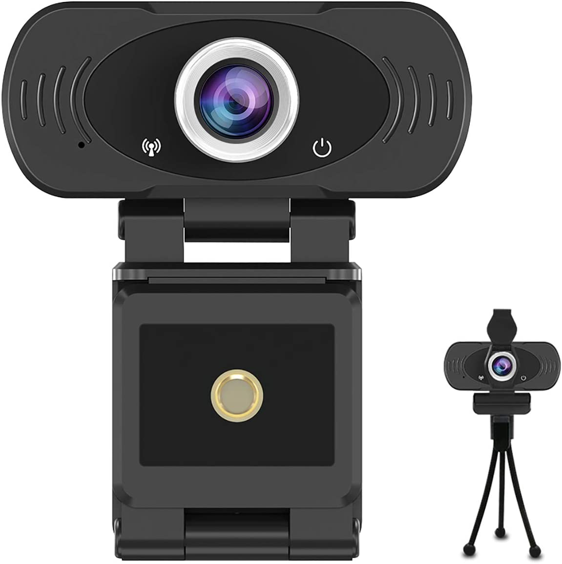 1080p USB Webcam with Built-in Microphone,Widescreen Live Streaming Video Calling for Zoom,Skype,with Tripod and Privacy Cover: Electronics