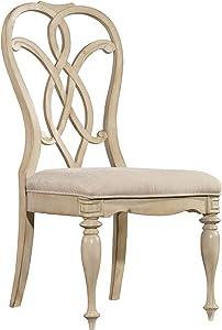 Hooker Furniture Leesburg Splatback Dining Side Chair in Antique White (Set of 2)