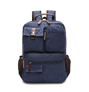 Xiuy Gran Capacidad Viajes Mochilas Fashion Mochilas Escolares Comodas Mochilas Tipo Casual Lona Resistente Backpack Multibolsillos Laptop Bolsas para ...
