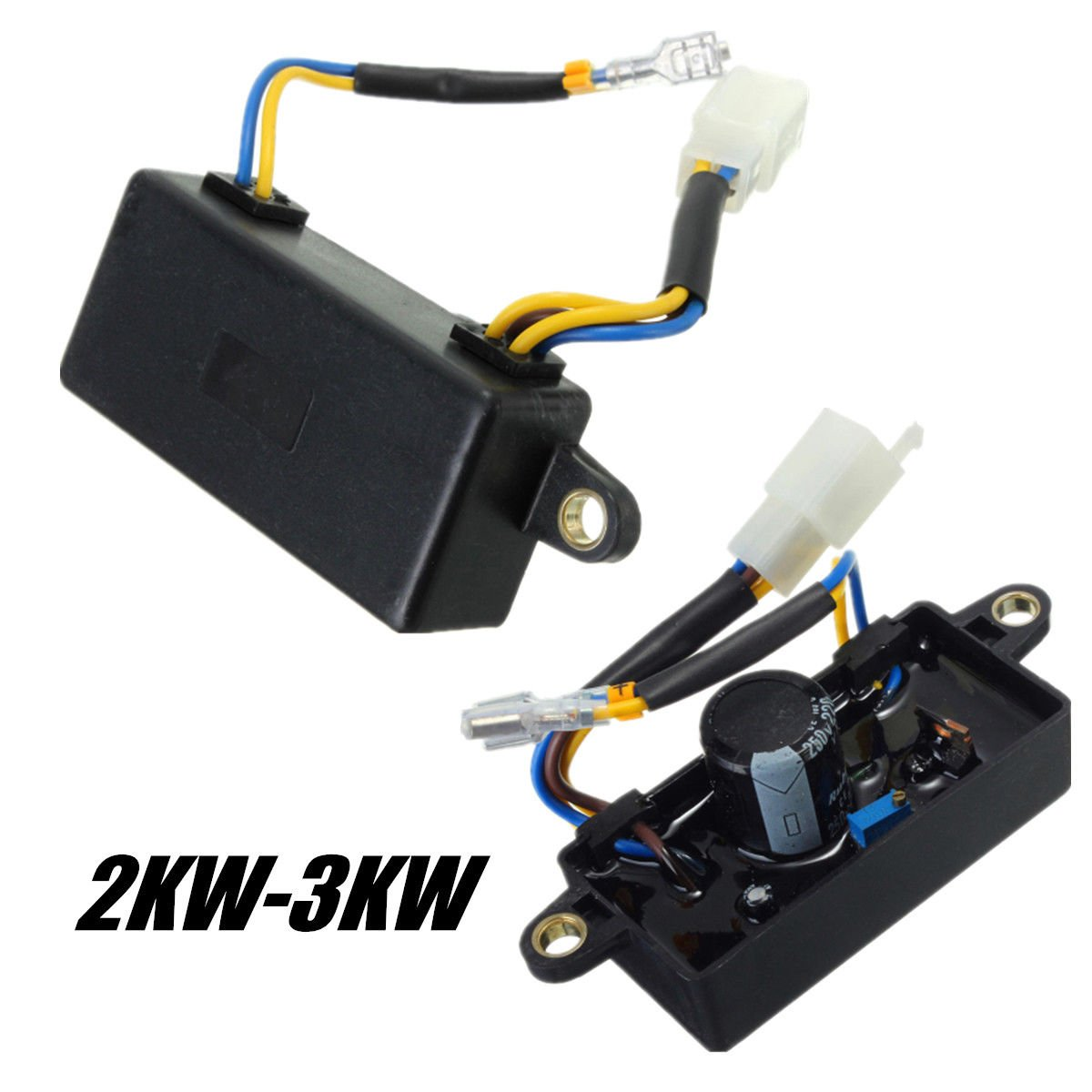 yongy AVR Automatic Voltage Regulator Rectifier for 2KW-3KW Generator Square Style