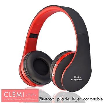 Auriculares Audio Bluetooth inalámbrico, compatible con Smartphones y ordenador – gran autonomía – plegable y