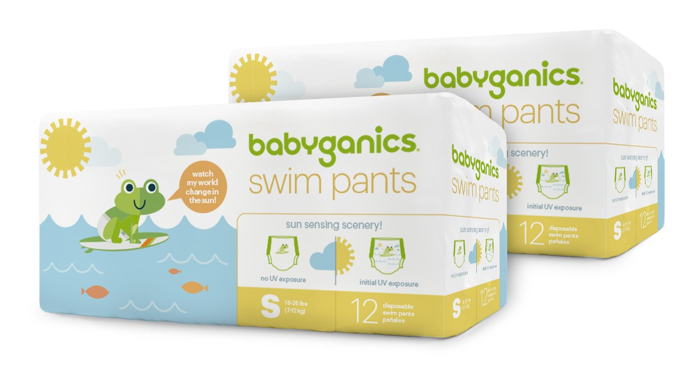 Babyganics Diapers Swim Pants, 48 Count, Samll