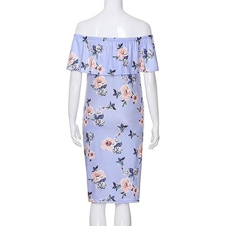 10ccfc01d ALIKEEY La Mujer Embarazada Ropa De Maternidad Vestido De Estampado Floral  Wrap Larga Sundress Seguro Salud