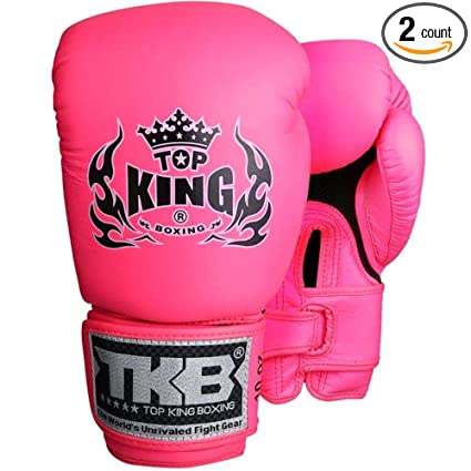 Amazon.com   MMABLAST TOP King Double Lock Muay Thai Boxing Gloves ... 4335c0159e165