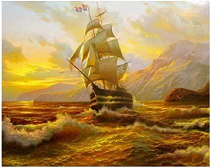 najiaxiaowu Classic Jigsaw Puzzle 1000 Pieces Adult Puzzle Wooden Puzzle DIY Sailboat on The Sea Unique Gift Modern Home Decor Wall Art Picture