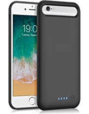 VOOE Battery Case for iPhone 6s/ 6/7/ 8, 6000mAh Portable Battery Pack Ultra Battery Charging Case Protective Rechargeable Smart Case for 6S/6/7/8 Backup Cover Extended Charger Case (4.7 inch)