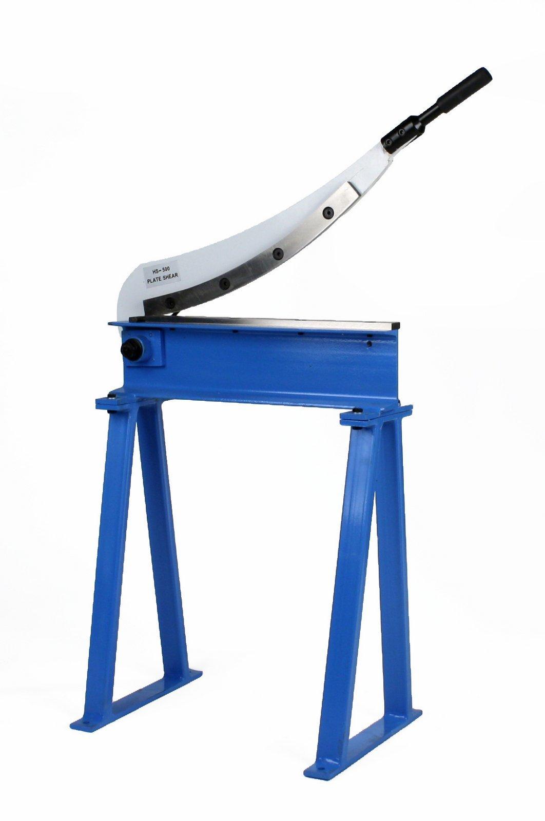 Erie Tools Manual Guillotine Shear 20'' x 16 Gauge Sheet Metal Plate Cutting Cutter w/ Stand