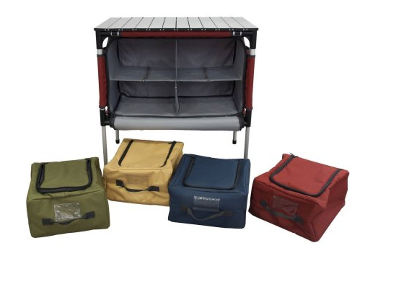 Portable Prep Station, Aluminum Material, Multicolor, Lightweight, Easy Transportation, Stylish Design, Easy Assembly, Ideal For Outdoor Spaces, Easy Cleaning, Sturdy And Durable Construction & E-Book