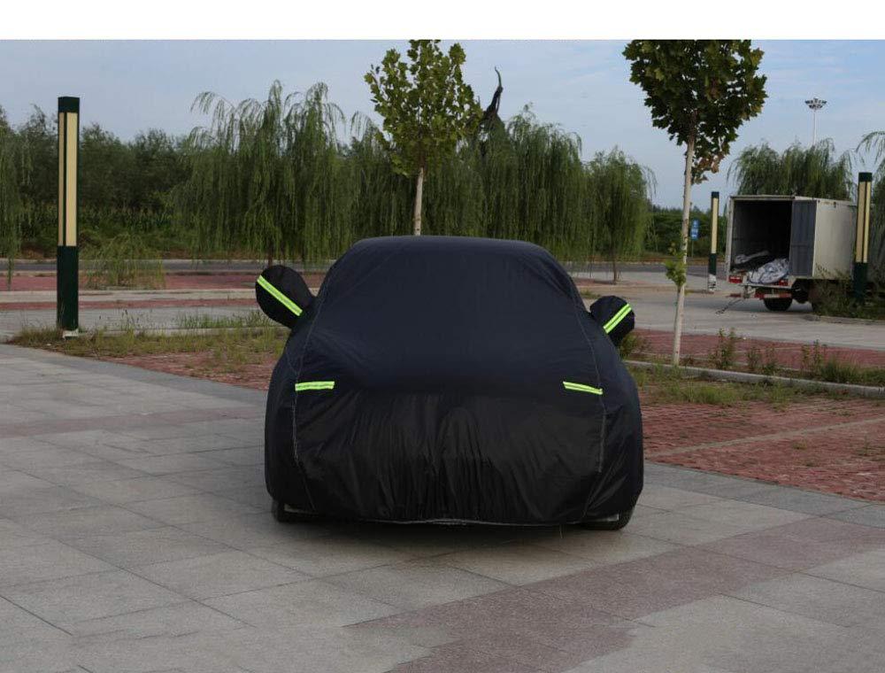 MOOMDDY Cubierta del Coche de Audi: a1, a3, A4, A5, A6, A7, A8, Q3, Q5, Q7 Protector Solar, a Prueba de Polvo, Impermeable, previene la Resina de Caer,Black,Q7