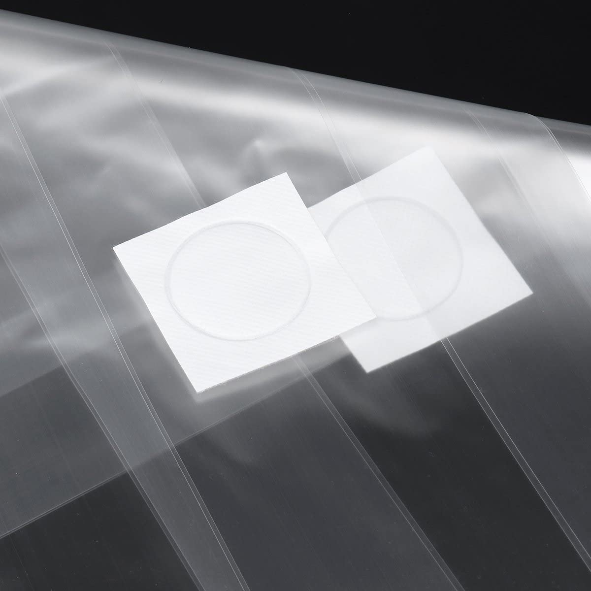 CHIMAKA 50Pcs 200x450x0.06mm PVC Mushroom Grow Seedling Bags Substrate Alta temperatura Pre sellable Nuevos accesorios de bricolaje