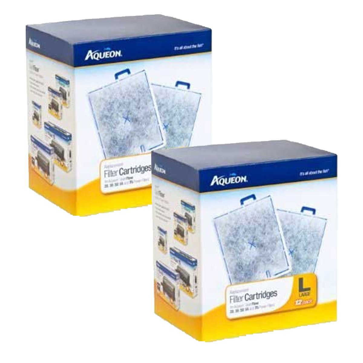 Aqueon Replacement Filter Cartridge Large 24 Count by Aqueon