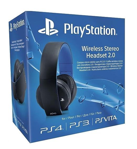 712 opinioni per Sony- Cuffie wireless stereo con microfono 2.0 per PS4/PS3/PS Vita, Nero