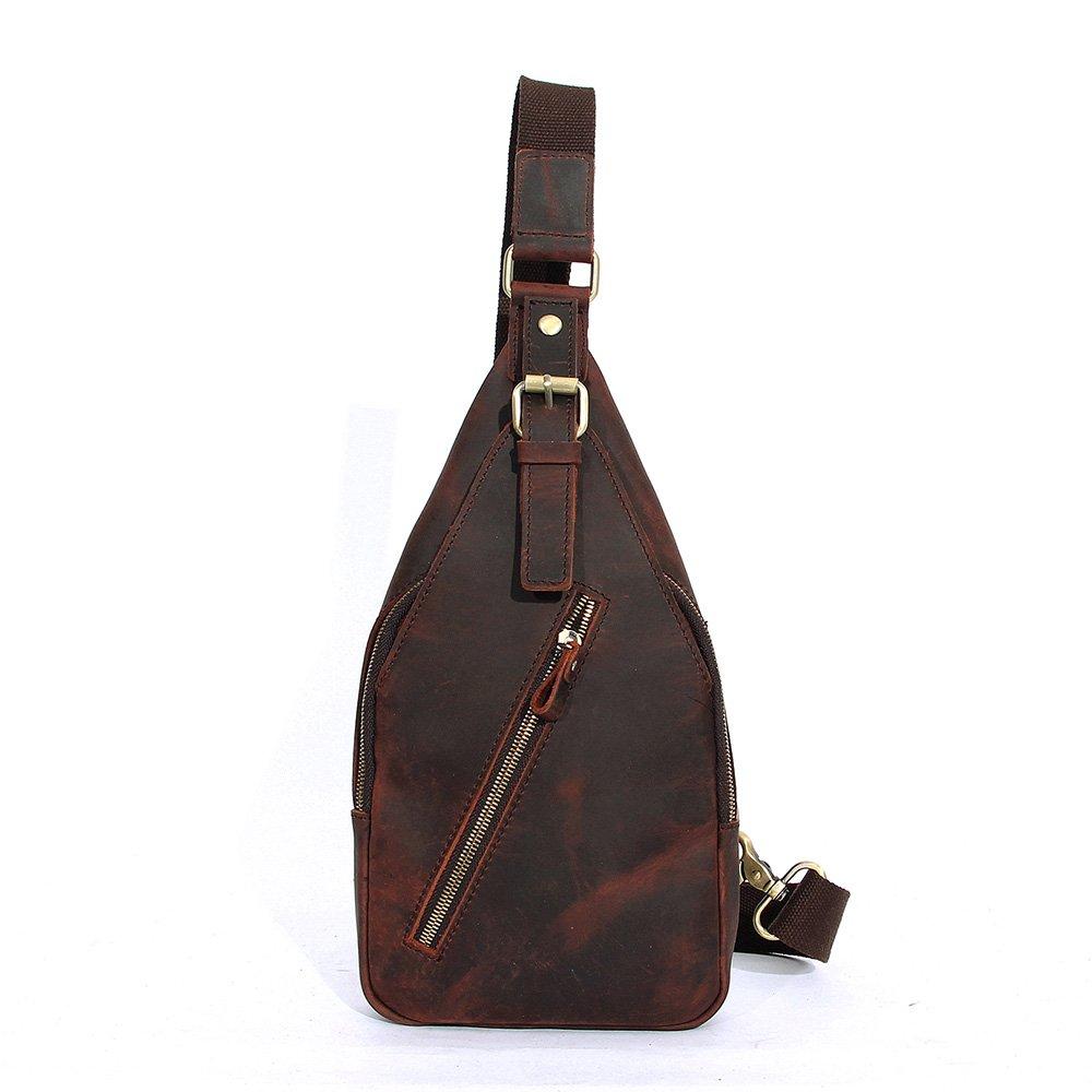 CHAO.P.J Mini Genuine Leather Sling Bag Sports Chest Bag Multipurpose Daypacks