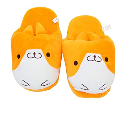 6ec63fd44b1 Image Unavailable. Image not available for. Color  Adorable Plush Corgi Dog  Slippers Winter Warm ...