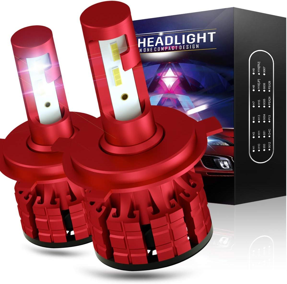 2 Pieces Wayrank H1 LED Bulb 10800LM Auto bulbs 60W 12V 6000K White