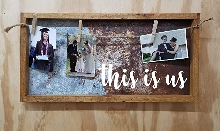 Amazoncom Rusty Home Decor This Is Us Picture Frame Wall Rustic