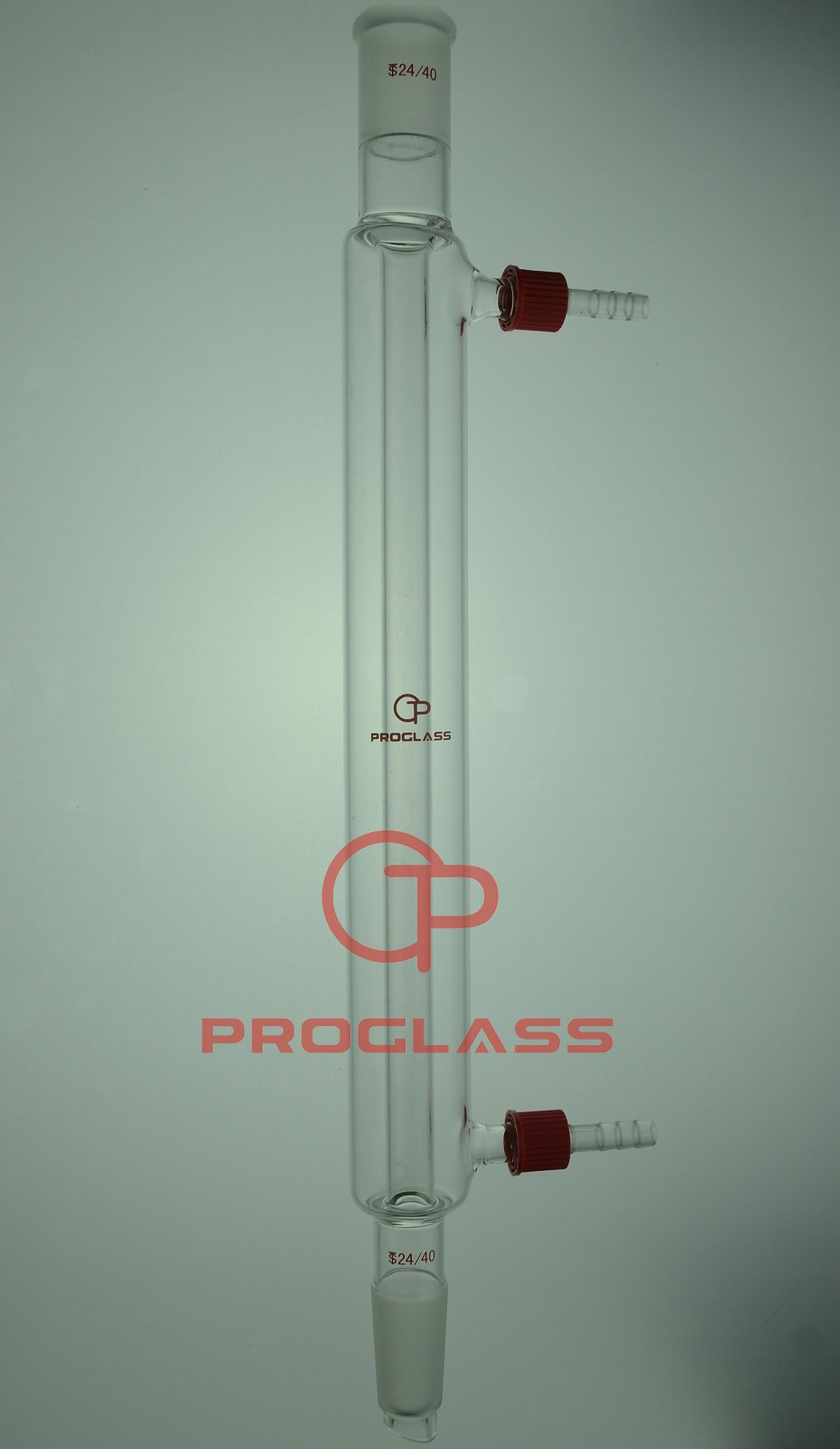 24/40 Joint 300mm Glass Liebig Condenser with removable hose connector by PROGLASS