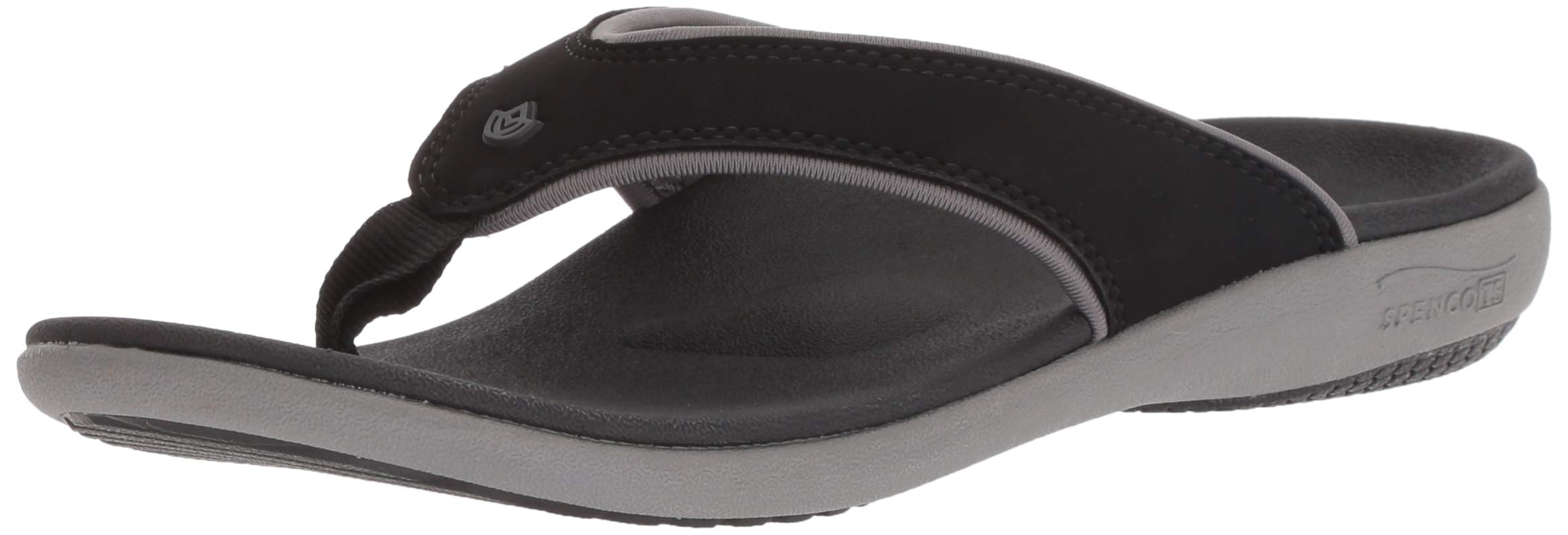 Spenco Women's Yumi Plus Sandal, Onyx 6 Wide US by Spenco (Image #1)