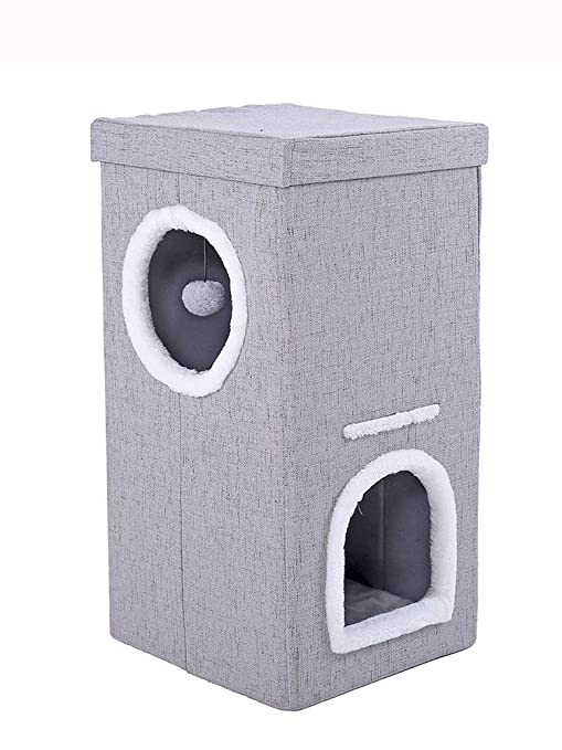 Plegable PET Home, dormir zona mascota cama para perros casa, doble capa Cat House
