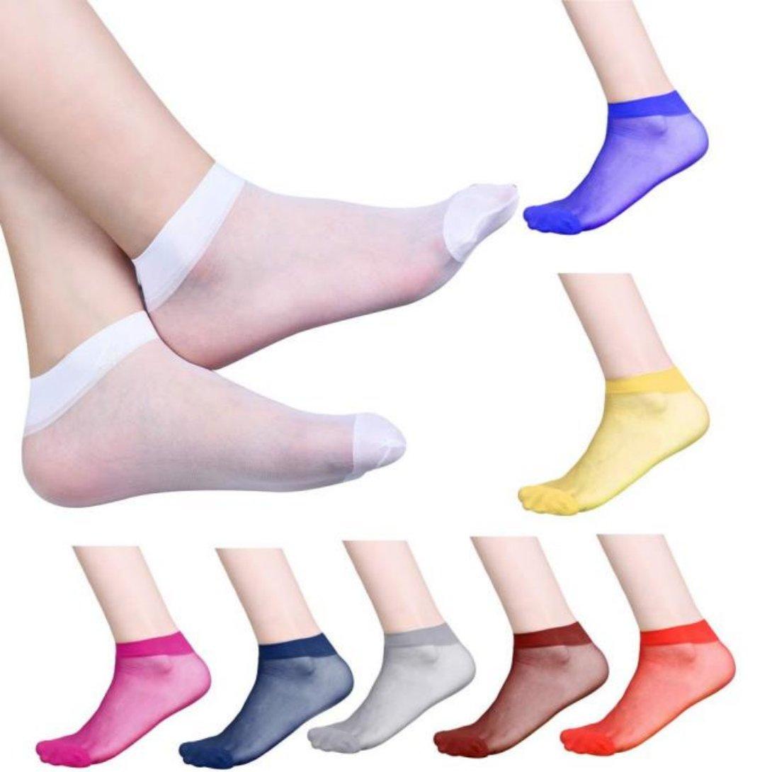 10 Pairs! Ultra-thin Elastic Silky Women Ankle Socks WensLTD YXP60426648bu