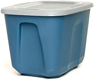 ECOstorage Standard Recycled Plastic Storage Container, 10 Gallon, Blue, 4 Pack