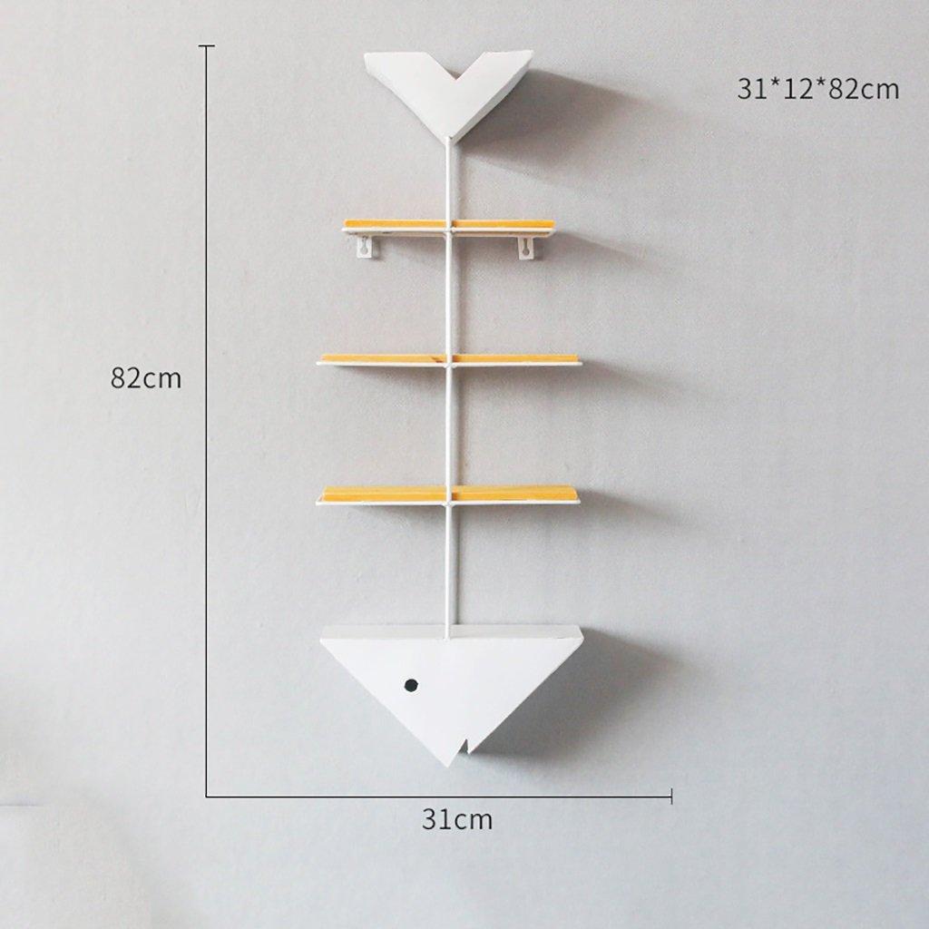 棚LOFTウォールマウントキューブ棚ベッドルーム本棚シンプルな鉄魚リブワードパーティションのボードラックフローティングユニットフレーム壁の装飾レトロな産業スタイルの棚 (色 : B) B07RJWTZRH B