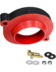 "Korky 6000BP Toilet Wax Free 3"" Rubber Seal Kit with Hardware, Red"