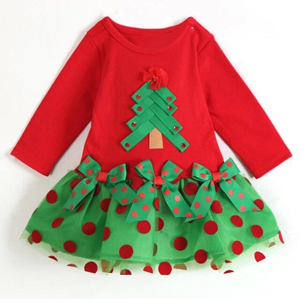 Natale Neonato Bambino 2pcs Set Abbigliamento Jumpsuit + Cappello Forma Invernale Abiti Set juqilu Network technology Ltd