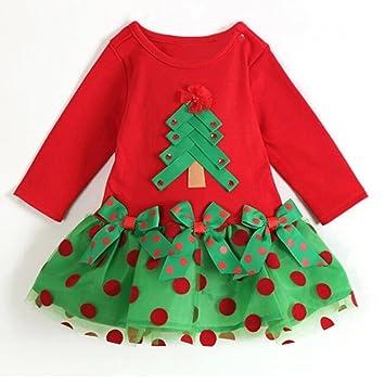 Vestido Bebé Navidad - Muchachas Niño Traje Lunares Alineada ...
