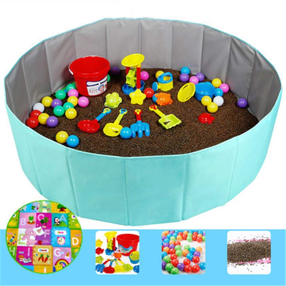 GYJ Beach Sand Toys Set Models Activity & Entertainment Guardrail Safety Fence Children Cassia Toys Marine Ball Suit Baby Play Sand Pool Tools Cloth Hourglass Home Playing by GYJ (Image #1)
