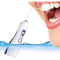 GHB Irrigador Dental Portátil e Impermeable para la Limpieza de los Espacios Interdentales Color Azul y Blanco
