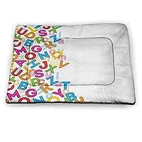 prunushome Pet Crate Mattress Whale Pet Pillow Bed Happy Big Smiling Cartoon Design...