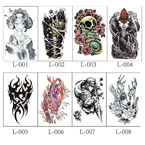 16 Stylish Waterproof Temporary Tattoo Stickers (16 Unique Designs) free shipping
