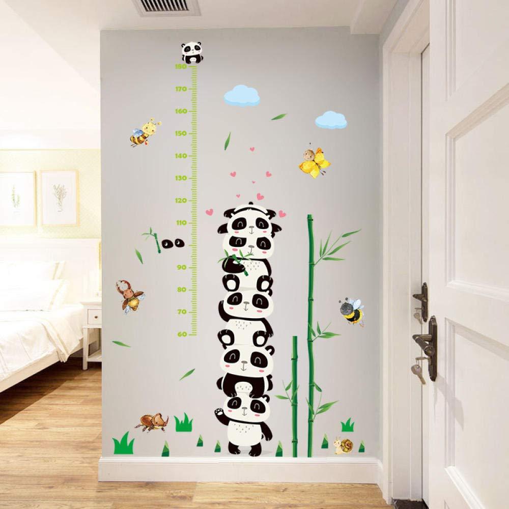 W-L Messlatte Kind Sch/öner Panda Bambus H/öhe Wand-Aufkleber for Kind-Baby Wohnzimmer DIY Dekor H/öhe Growth Chart Nursery Kunst-Wandaufkleber