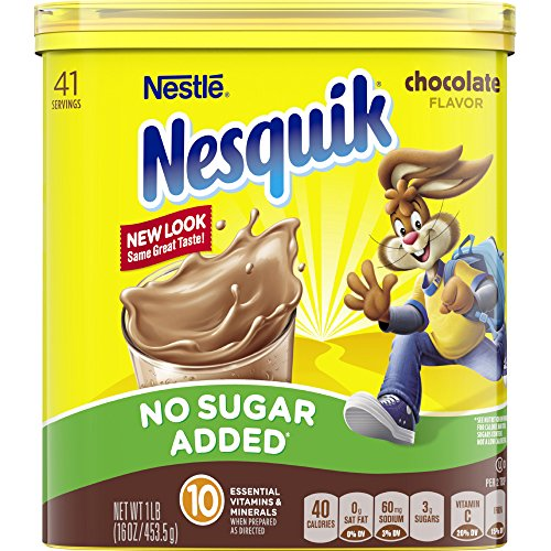 (Nesquik Chocolate Powder, No Sugar Added, 16-Ounce Unit (Pack Of 6))