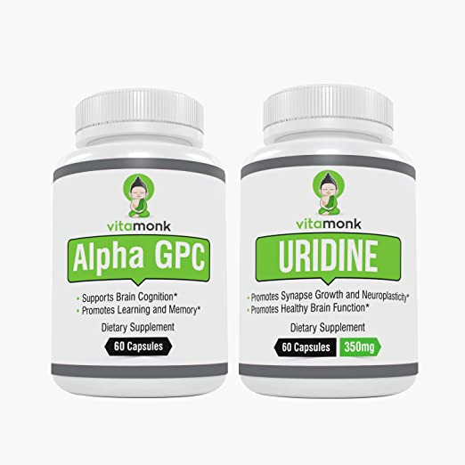 Alpha GPC and Uridine Stack - Mr Happy Stack - Uridine Monophosphate with  No Artificial Fillers -