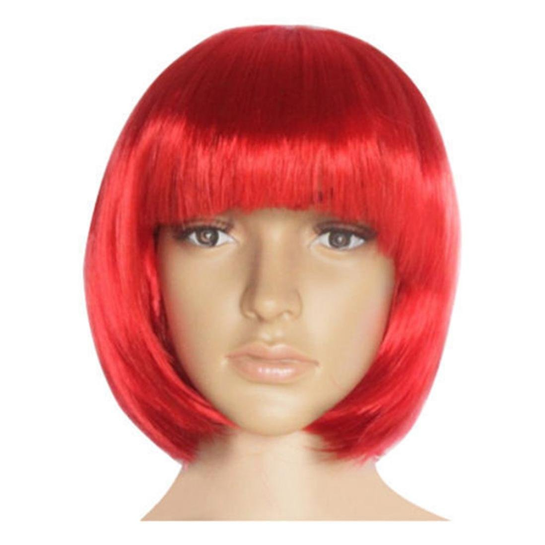 Amazon.com: Huphoon Fashion Girl Lady Short Wig Cap Fine for Cosplay Party Short Straight Hair (o): Beauty