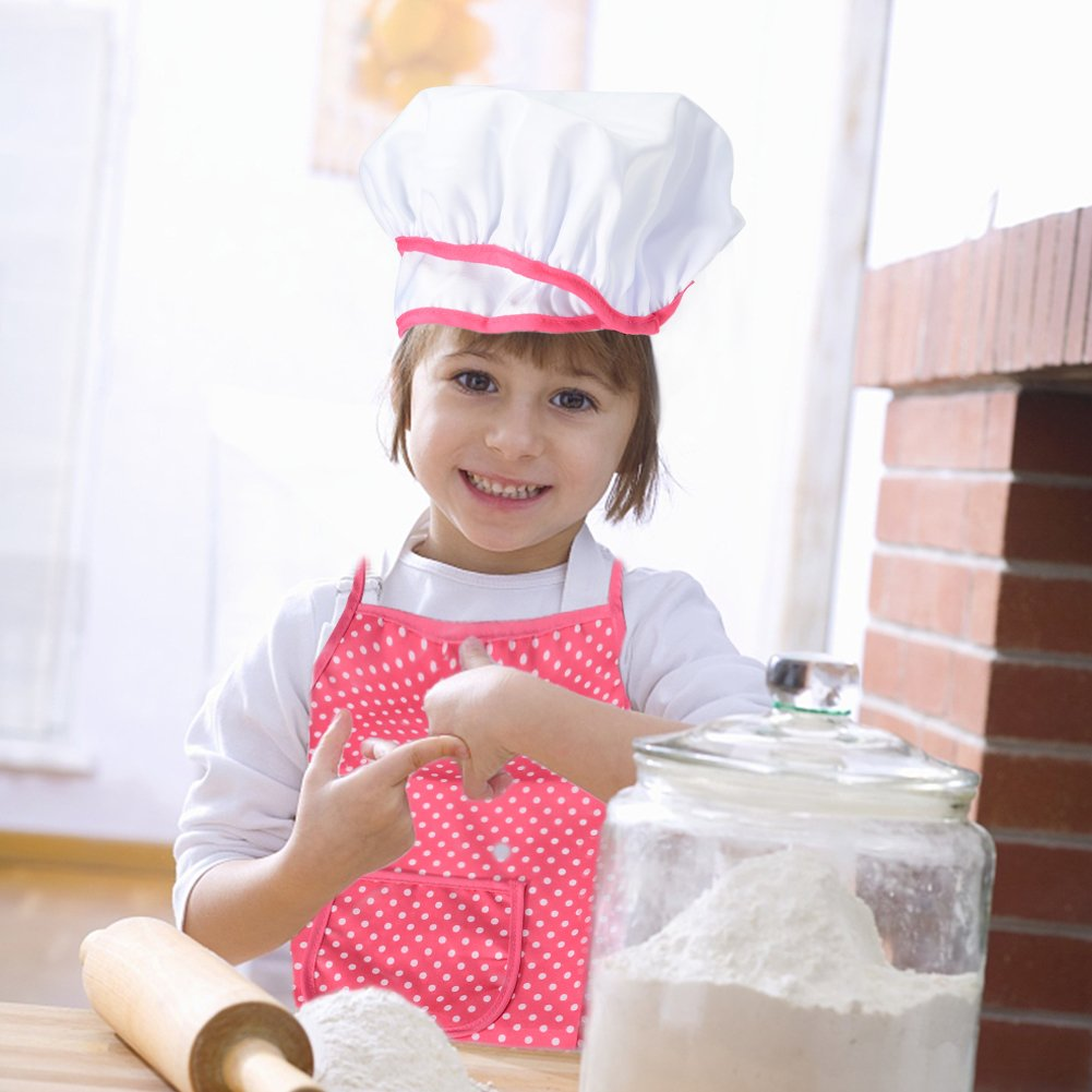 Acekid Chef Set for Kids,11pcs Kitchen Costume Role Play Kits, Girls ...