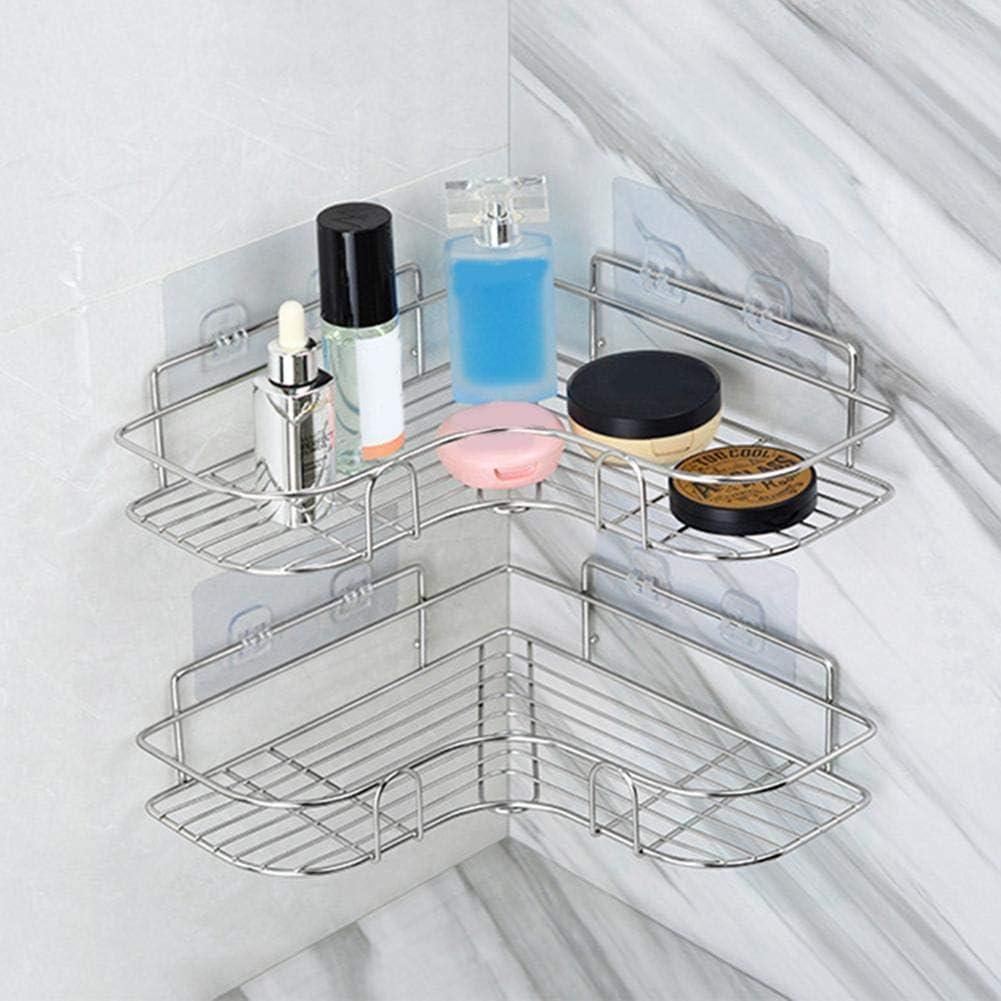 /étag/ère de salle de bain /Étag/ère dangle pour panier de douche Sans percer la tablette de douche en acier inoxydable Montage mural autocollant pour /étag/ère de douche de salle de bain et cuisine