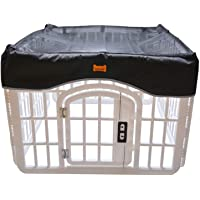 LOOBANI Pet Playpen Mesh Fabric Top Cover, Provide Shaded Areas for Pets and Protect from UV/Rain, Fits 24 Inch Play Pen…