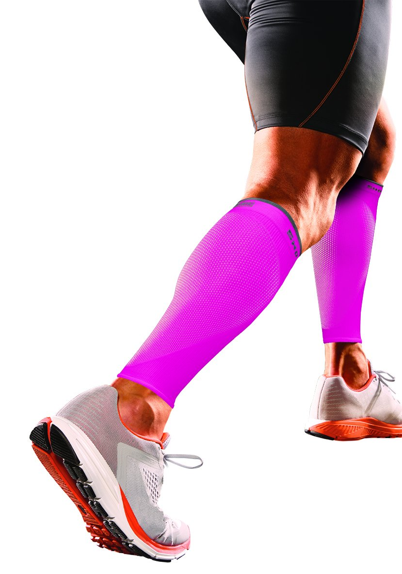 Shock Doctor SVR Recovery Compression Calf Sleeve, Shock Pink, Adult-X-Large by Shock Doctor