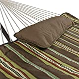 Sunnydaze Desert Stripe Cotton Rope Hammock with 12 Foot Steel Stand, Pad and Pillow-275 Pound Capacity