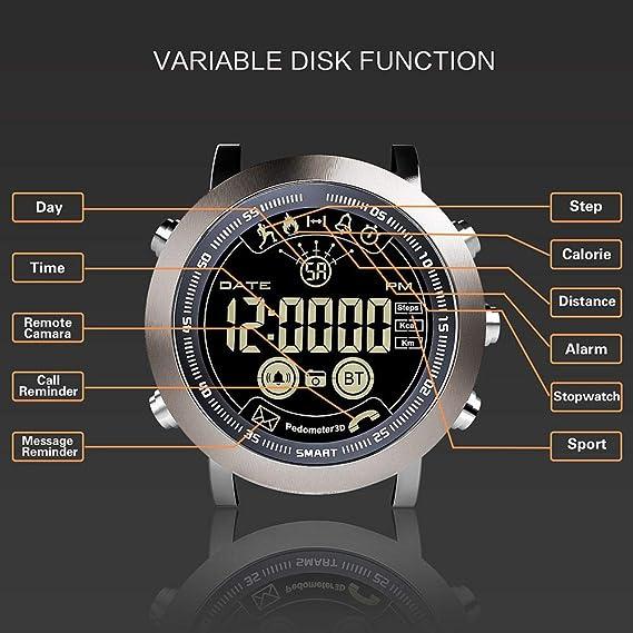 Amazon.com : LEMFO LF23 IP68 Smart Watch, Leegoal 5ATM Waterproof Fitness Trackers with Heart Monitor, Bluetooth 4.0, Calorie Pedometer Sleep Monitor, ...