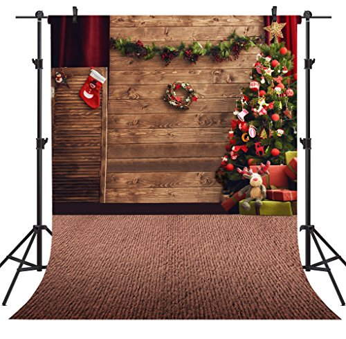 OUYIDA Christmas Theme 5X7FT Seamless CP Pictorial Cloth Photography Background Computer-Printed Vinyl Backdrop TP78C