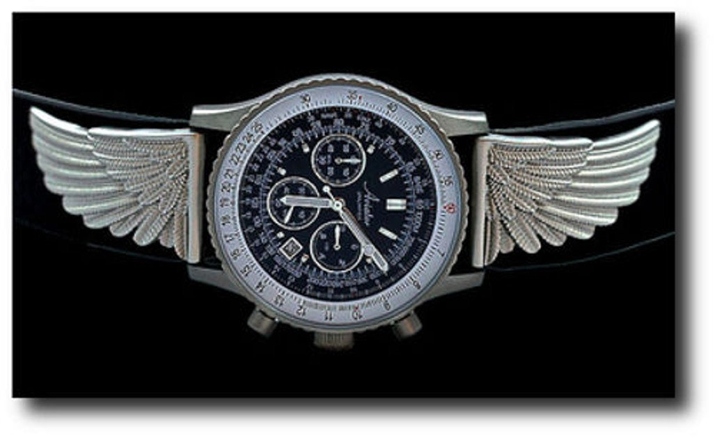 New Aviator Unlimited ''Ventura'' Men's Pilot Chronograph Watch w/ Winged Accents by Planejunkie