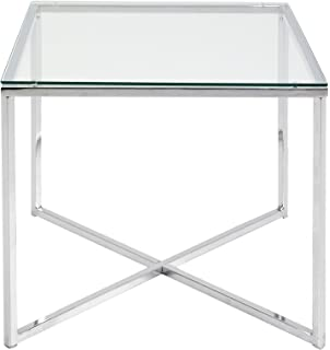 AC Design Furniture 0426862045 Beistelltischisch Gurli Klarglas 5 Mm 50 X 45